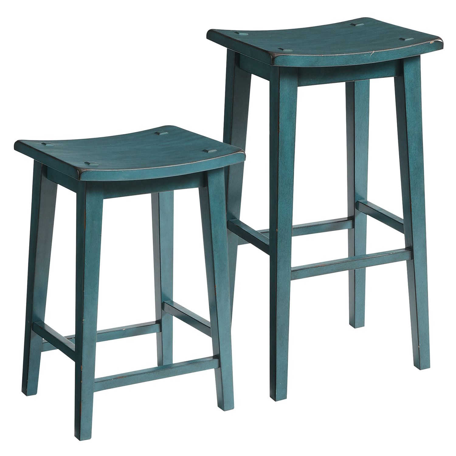 Teal Kitchen Chairs Lawson Backless Bar And Counter Stools Teal Hardwood