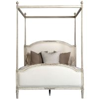 Upholstered French Canopy Bed (16.480 BRL) liked on ...