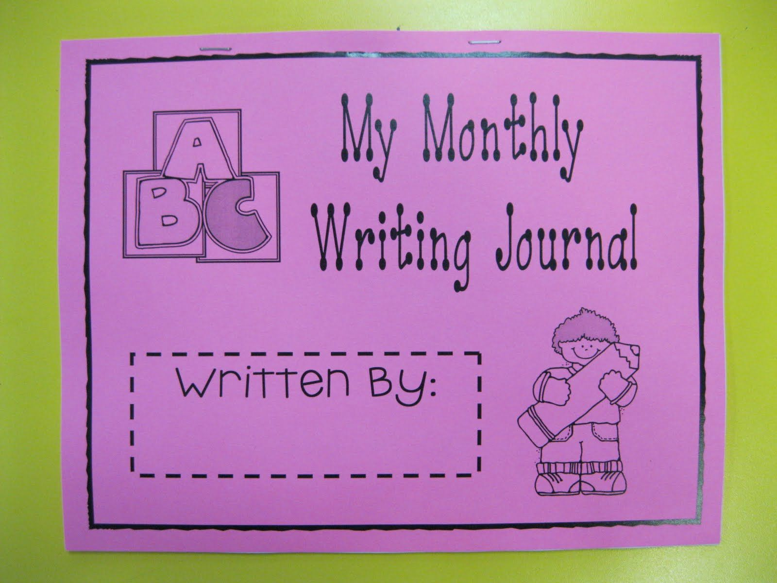 Kindergarten Rocks Monthly Writing Journal Templates For Covers And Writing Pages