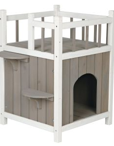 Cat house furniture story play balcony kitty condo outdoor pet home wood toy also dog idea pinterest houses and rh
