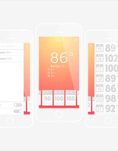 Create  weather app design for ios in adobe illustrator also tutorials rh pinterest