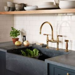 Waterworks Kitchen Faucets Island An Unlacquered Brass Faucet From And A ...