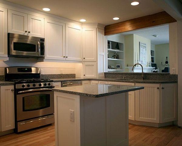 small kitchen with island design ideas 54 Beautiful Small Kitchens Design   Kitchens, Beams and Stove
