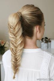 fishtail-ponytail-hairstyle hair
