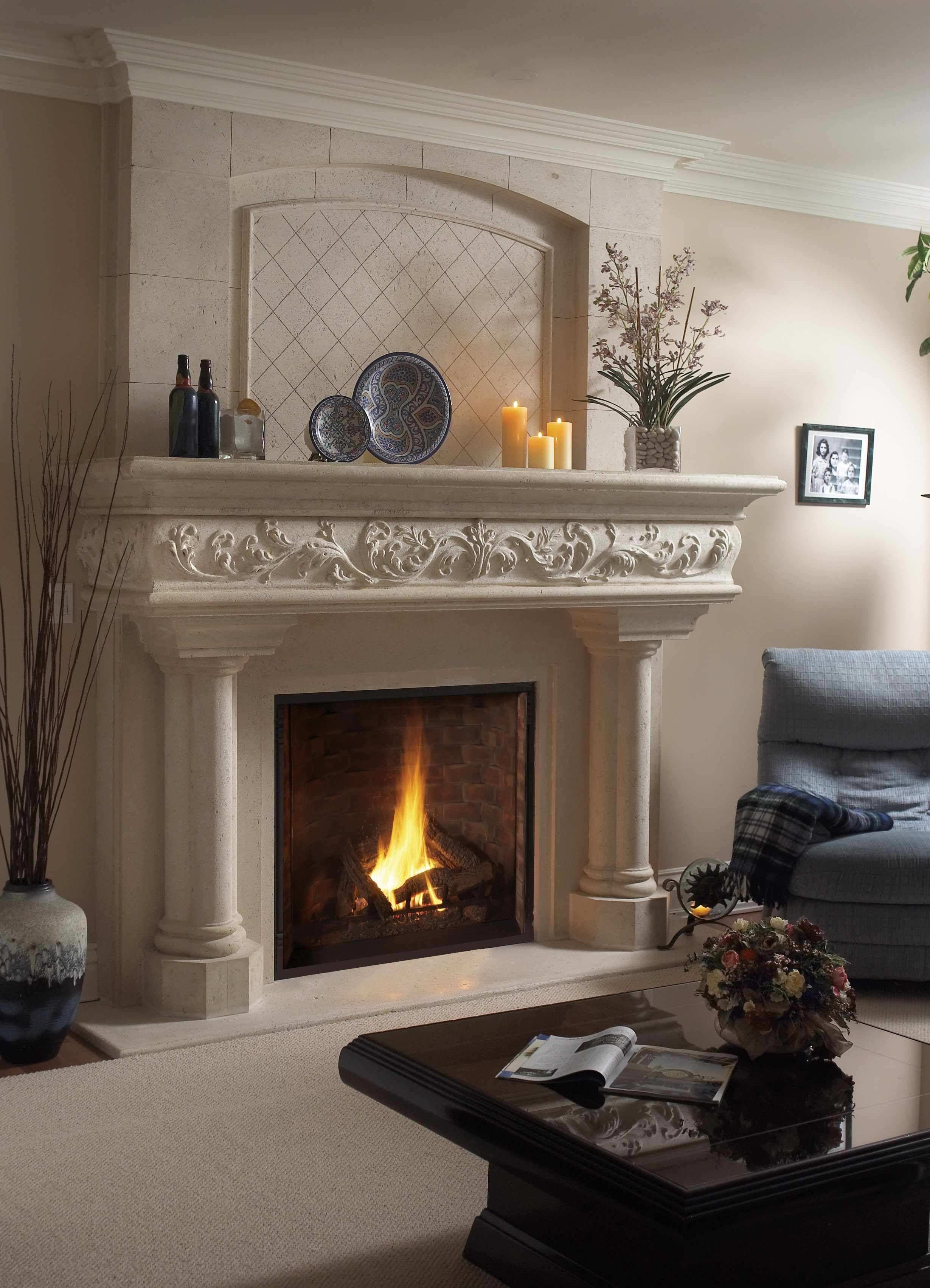 Margaux Lite Cast Stone Mantel The Beauty Of Fireplace Mantels