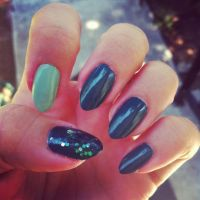 Teal Ombre nails | Nailz | Pinterest | Ombre and Makeup