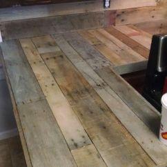 Epoxy Resin Kitchen Countertops Buffet Pallet & Backsplash | Projects ...