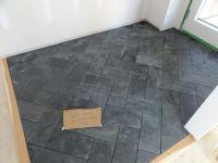 Slate Herringbone Tile - Flooring | Fort Salonga Client ...