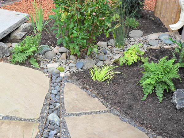 A Dry Stream With Impervious Pond Liner Conveys Storm Water From