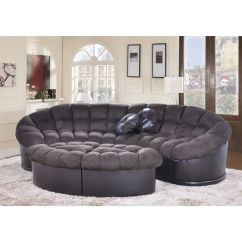 Comfortable Sofa For Living Room 2 Seater Covers Uk Diana 4 Piece Chocolate Papasan Modern Microfiber And