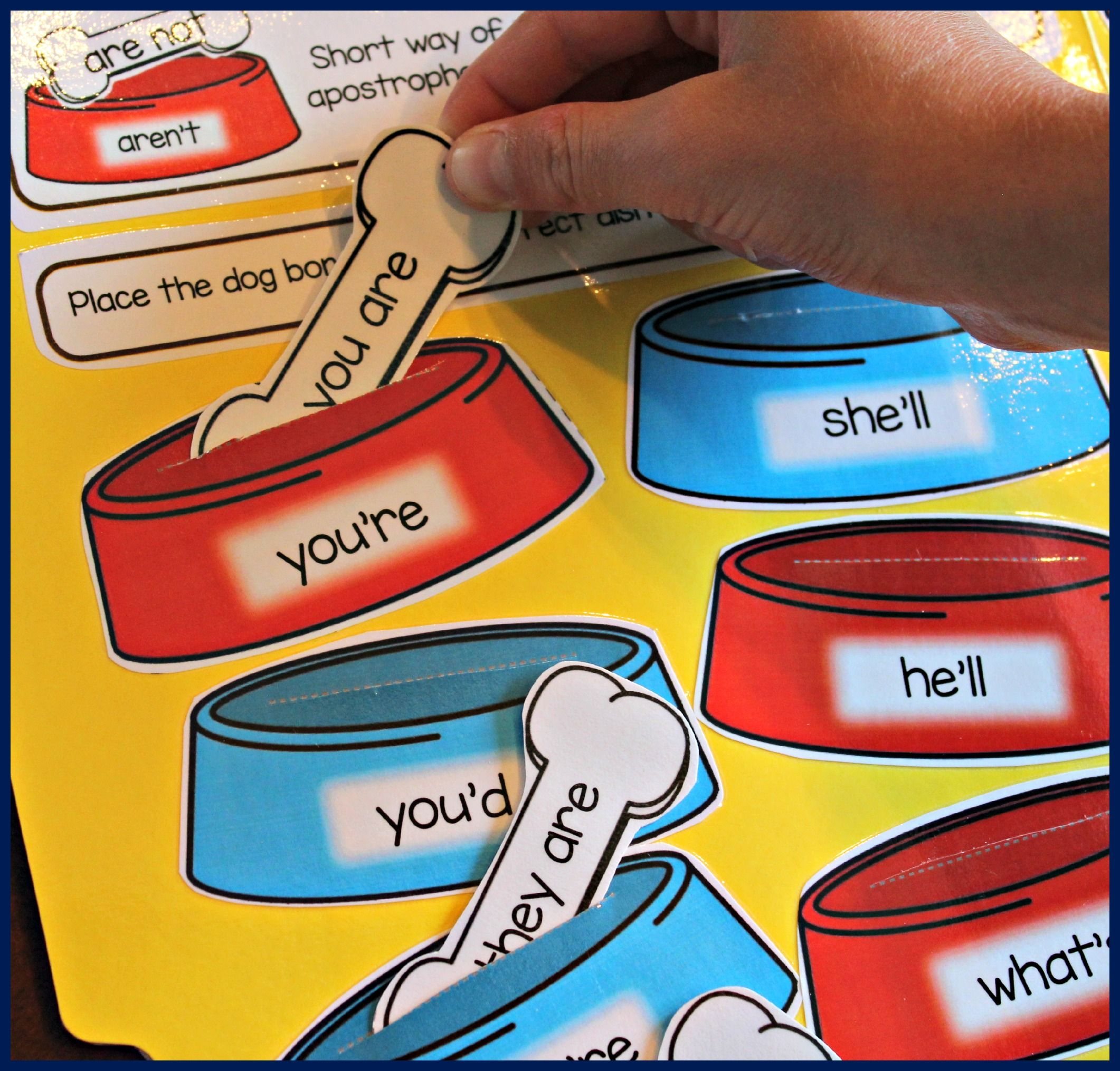 File Folder Phonics Activities For Teaching Contractions And More