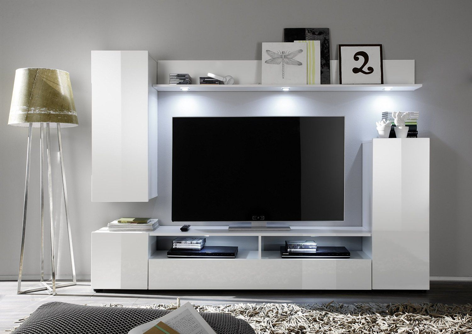 Furnline 945 01 Dos High Gloss Tv Stand Wall Unit