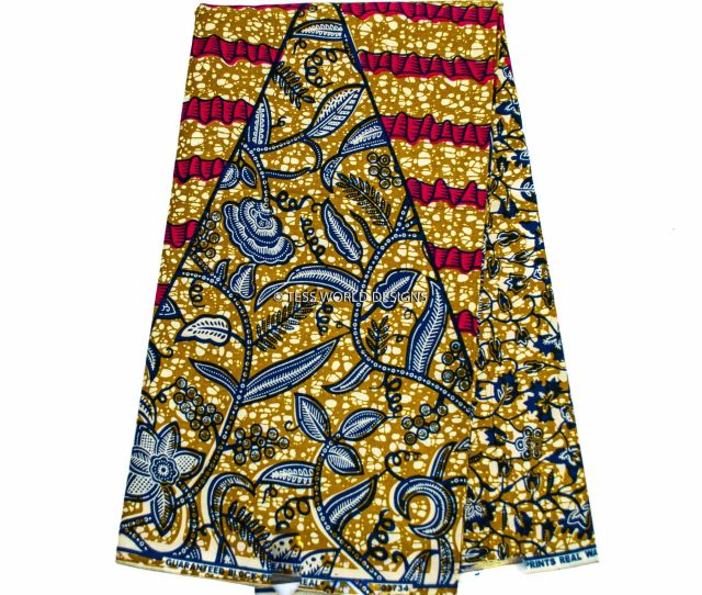 Wp319 African Print Fabric Patchwork 6 Yards