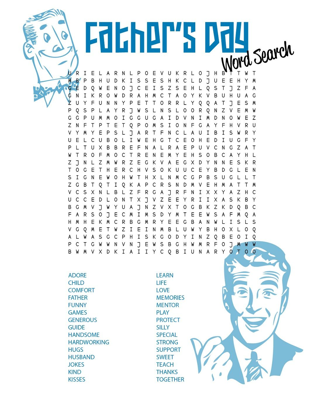 Father S Day Word Searches