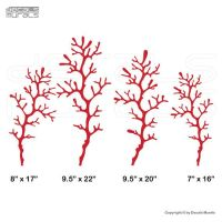 Wall decals 4 CORAL REEF BRANCHES Vinyl art interior decor ...