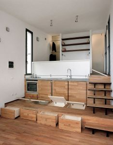 Tre livelli cool design with its pop up kitchen also cabins rh pinterest