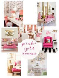 Pink Gold Office on Pinterest