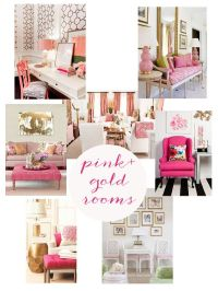 Pink Gold Office on Pinterest | Gold Office Supplies, Gold ...