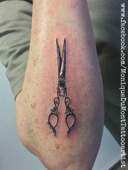 scissor tattoo monique dumont