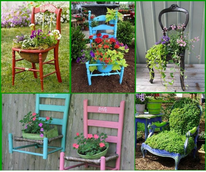 Home Made Gardens Art Idea Creative Ideas For Old Chairs