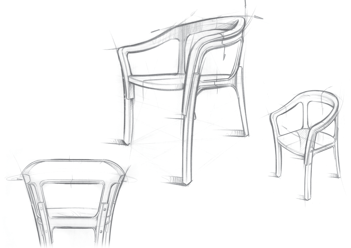 Sketch Steel Wood Chair By The Bouroullec Brothers