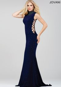 Style#: 36087 Sexy sleeveless form fitting dress features ...