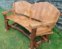 rustic wood bench with back | Rustic Garden Benches ...