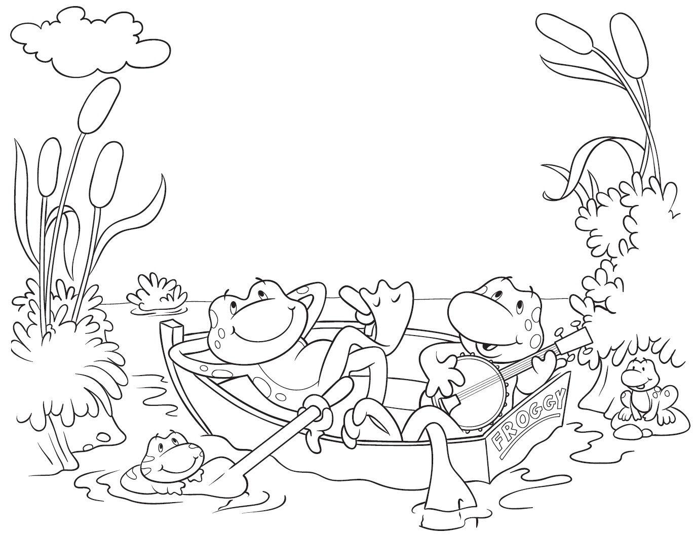 Frog Coloring Pages Frogs And Coloring Pages To Print On