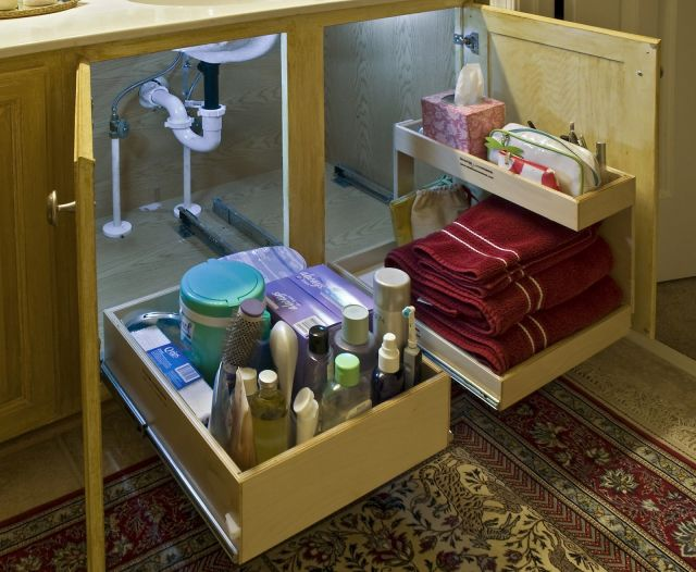 Bathroom Under Sink Storage Ideas To Organize Your Cabinet Great