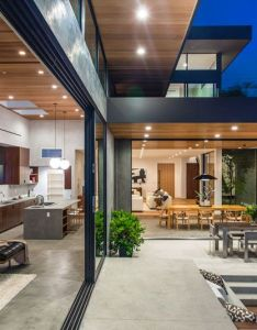 The interior of this home opens up to backyard creating  true indoor house exterior designhouse also rh pinterest