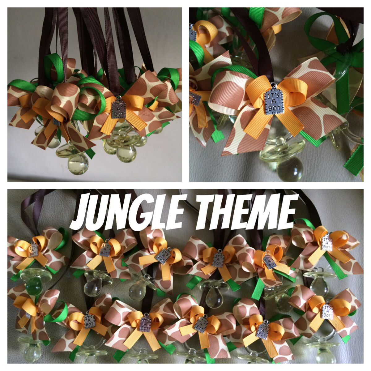 Jungle theme baby shower necklaces Party favors Match really well will jungle lion king or