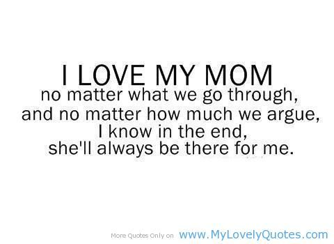 My Mom :). Even my Mother in-law, I love that we are so