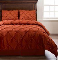 Emerson 4pc Pinched Pleat Comforter Set Orange - Full ...