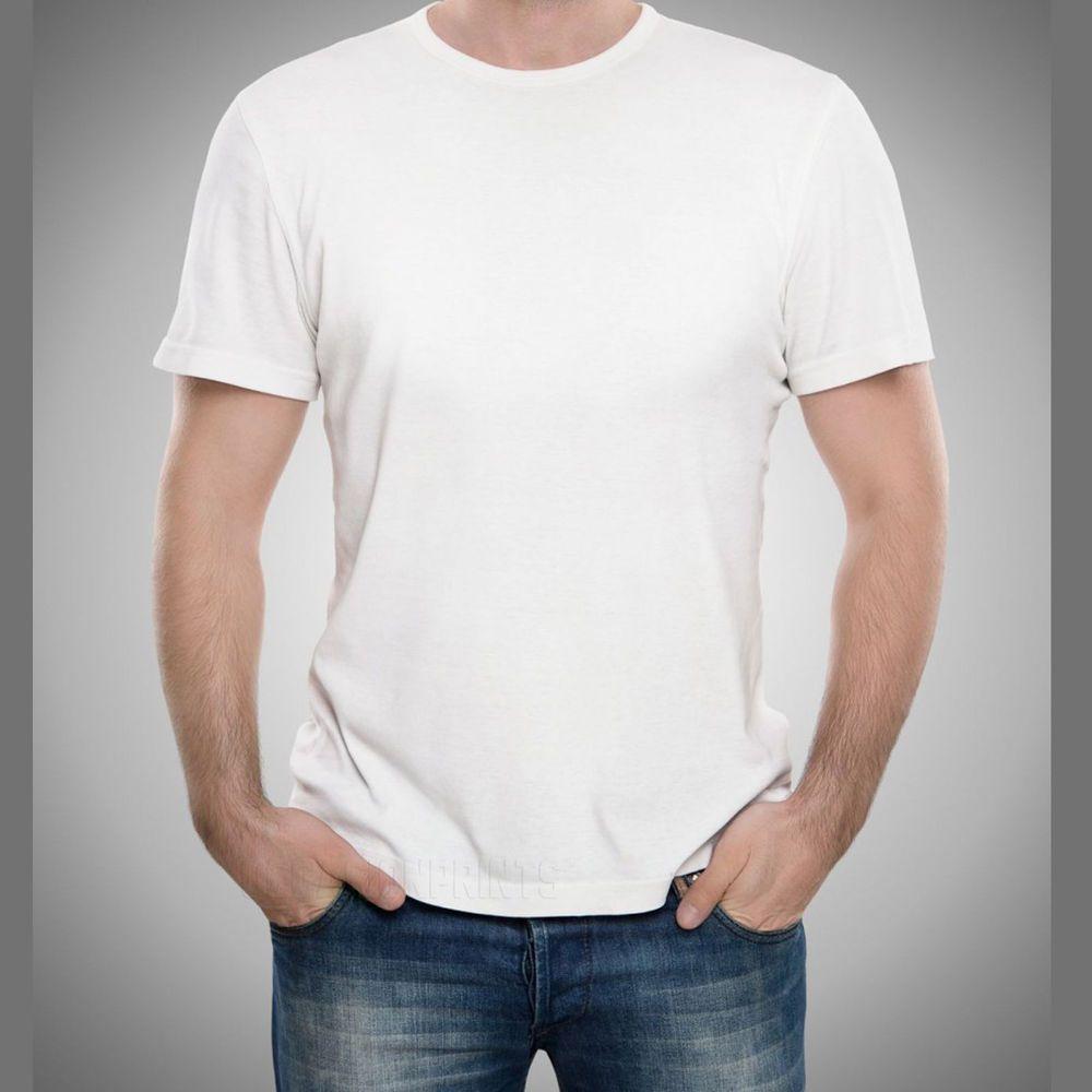 12 White Tshirt Blanks Bulk Lot Plain T shirt Mens SXL