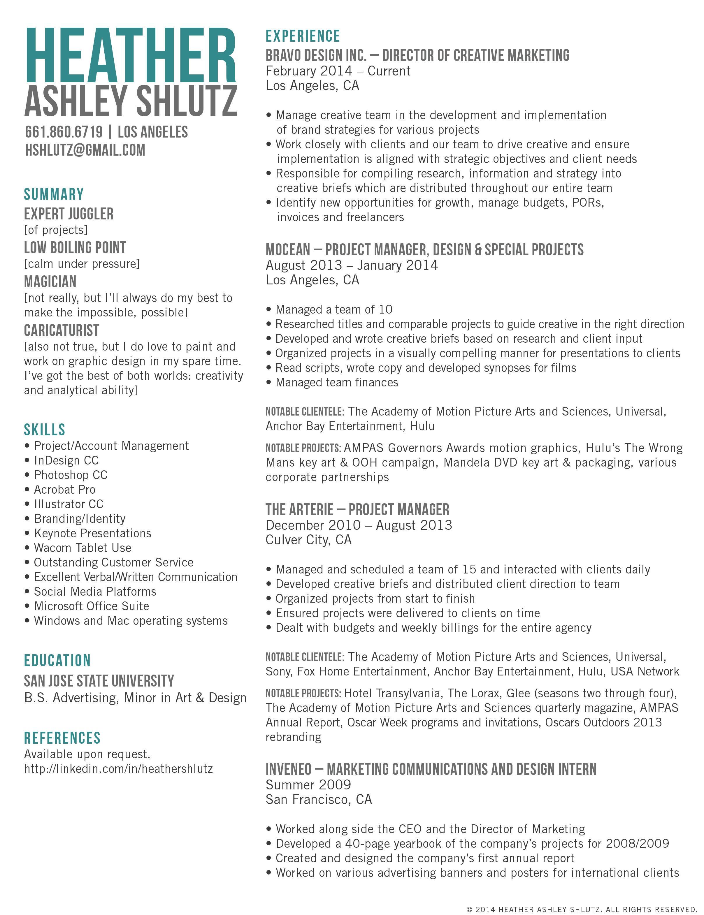 Advertising Agency Resume Examples Examples of Resumes