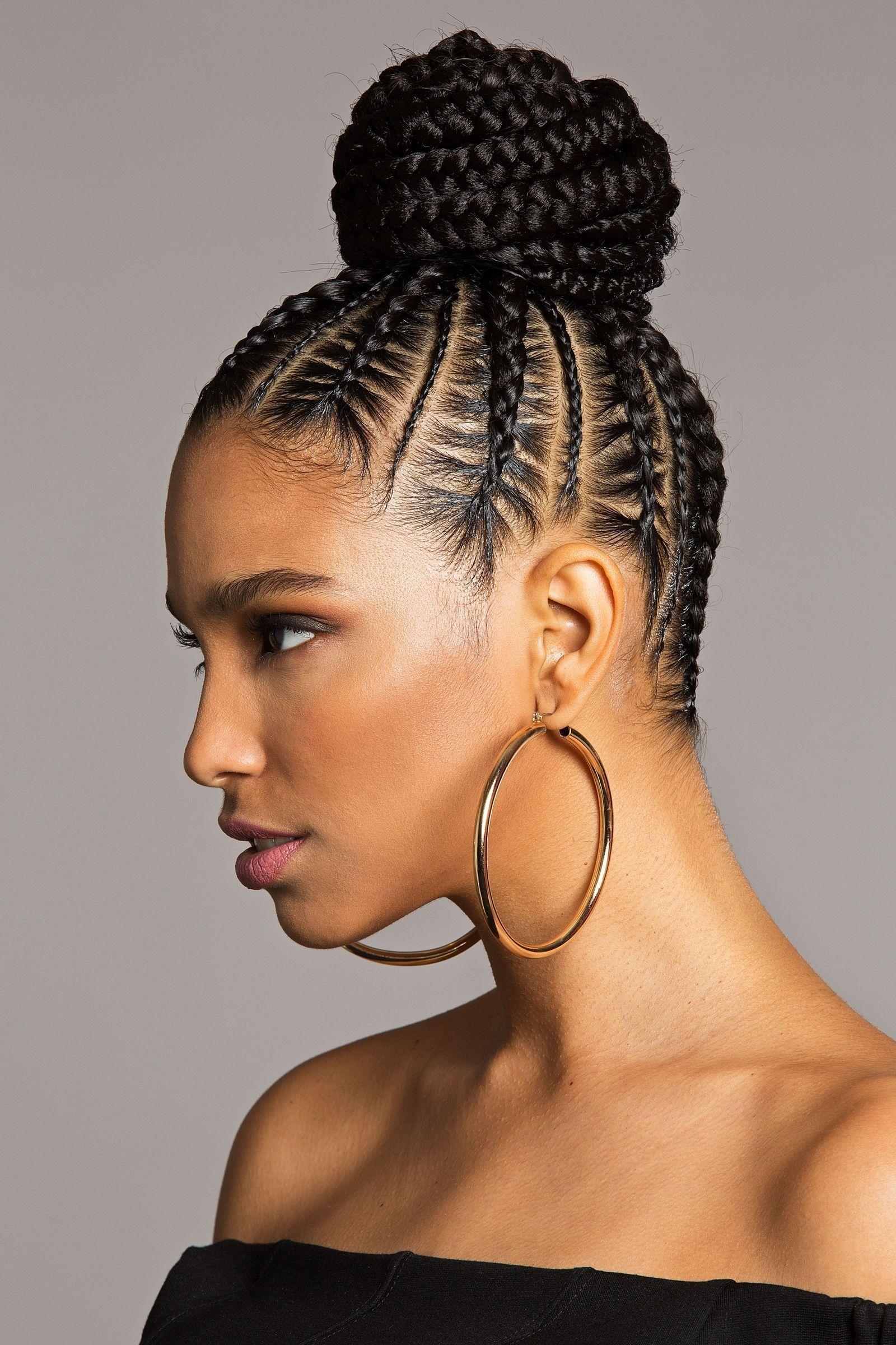 Best 25+ Braided bun black hair ideas on Pinterest