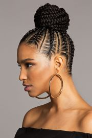 braided bun black hair