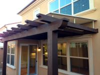 Bedroom, Amusing Front Door Awning Pergola Cover And Wood ...