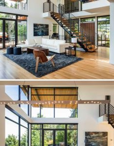 Inside this home really opens up with  double height ceiling and living also rh pinterest