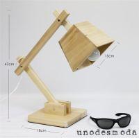 Furniture Fancy Modern Retro Replica Ash Wood Desk Lamp