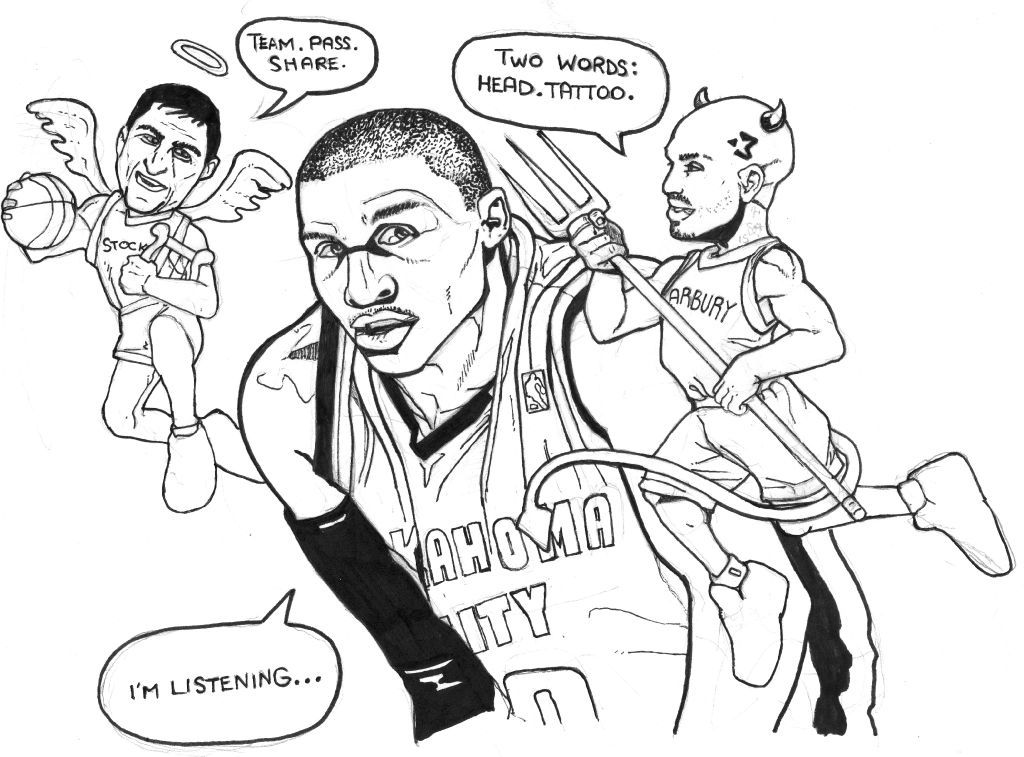 Russell Westbrook Free Colouring Pages