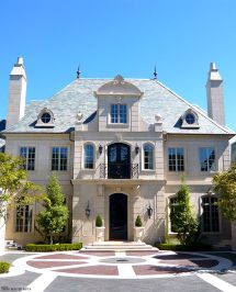 French Chateau Style House Exterior