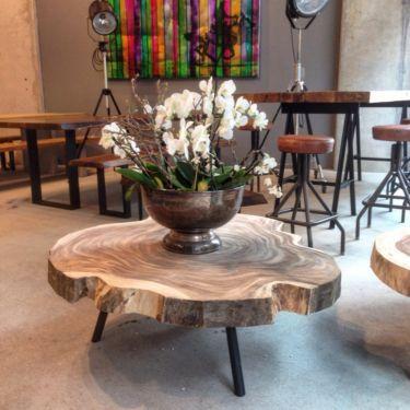 Wohnzimmertisch Couchtisch Massivholztisch Baumscheibe Holztisch in Mitte  Hamburg Altstadt
