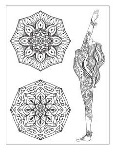 Yoga and meditation coloring book for adults: With Yoga