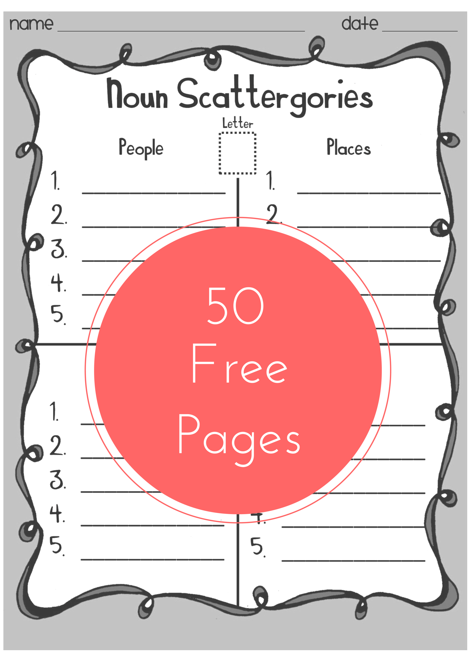 Must See Word Work Game 50 Pages 3 Skill Levels And Ink