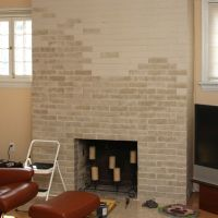 How To Update A Dated Brick Fireplace With Paint - this ...