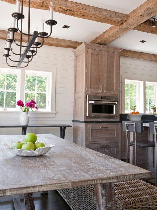 Interesting Whitewash Oak Floors And Cabinets