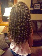 pencil curls in madison's hair