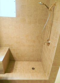 tiled shower stalls pictures | ... with prefabricated ...