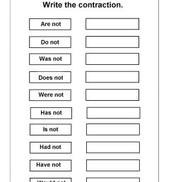 Contraction Worksheet For 1st   Printable Worksheets and Activities for  Teachers [ 1600 x 1130 Pixel ]